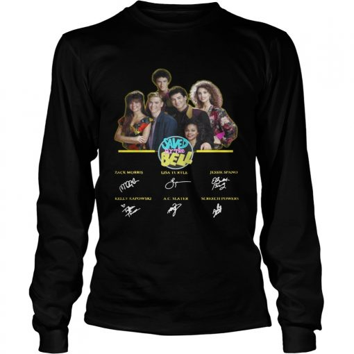 Saved by the Bell characters signature  LongSleeve