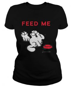 Simons Cat Feed Me Feed The Cat  Classic Ladies