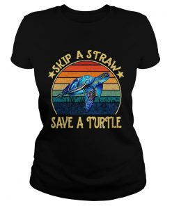 Skip a straw save a turtle vintage  Classic Ladies