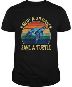 Skip a straw save a turtle vintage  Unisex
