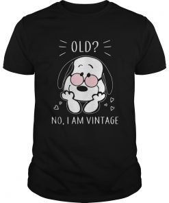 Snoopy old no I am vintage  Unisex