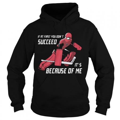 Spider Man if at first you dont succeed its because of me  Hoodie