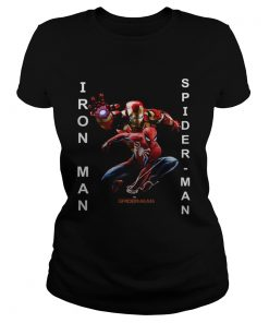 Spiderman Far from home Iron man and Spiderman  Classic Ladies
