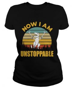Stranger Things 3 Vintage I am unstoppable T Rex  Classic Ladies