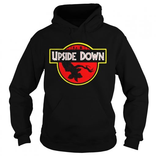Stranger Things Upside Down Jurassic Park Badge TShirt Hoodie