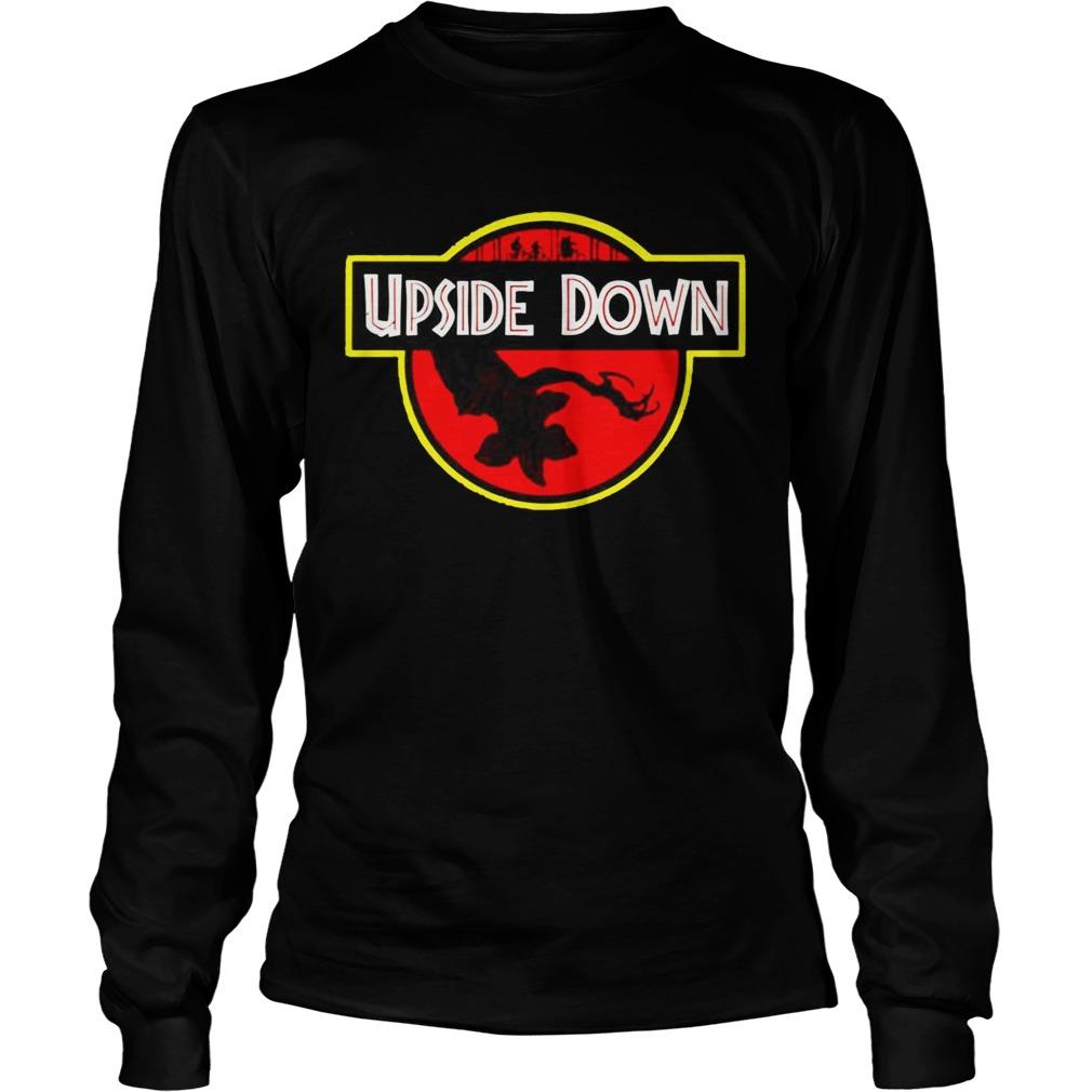 Stranger Things Upside Down Jurassic Park Badge TShirt LongSleeve