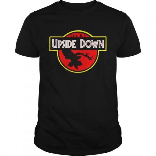 Stranger Things Upside Down Jurassic Park Badge TShirt Unisex
