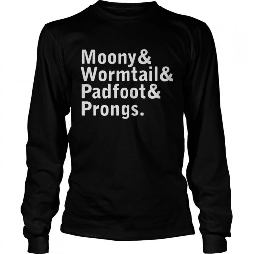 Stranger things Moony Wormtail Padfoot Prongs  LongSleeve