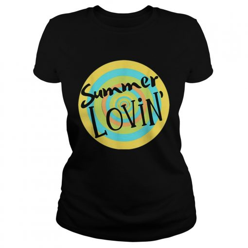 Summer Lovin Beach Vibes Men Women Youth Rainbow Circle Fun  Classic Ladies