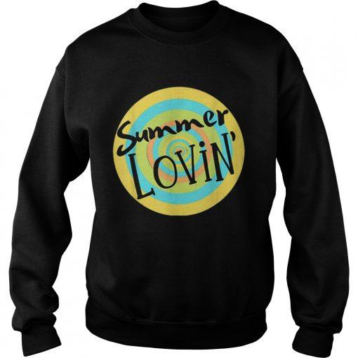 Summer Lovin Beach Vibes Men Women Youth Rainbow Circle Fun  Sweatshirt