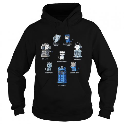 Tardis cats Doctor meow Doctor Who  Hoodie