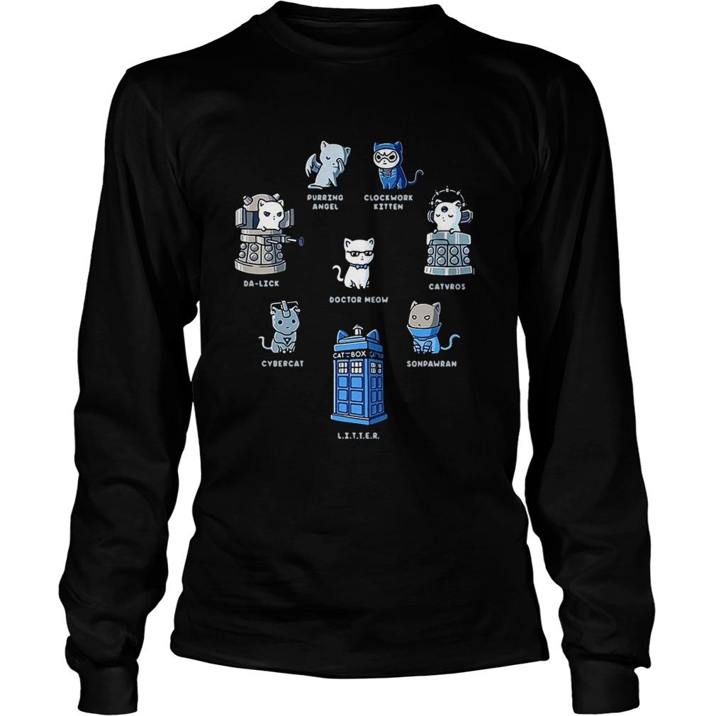 Tardis cats Doctor meow Doctor Who LongSleeve