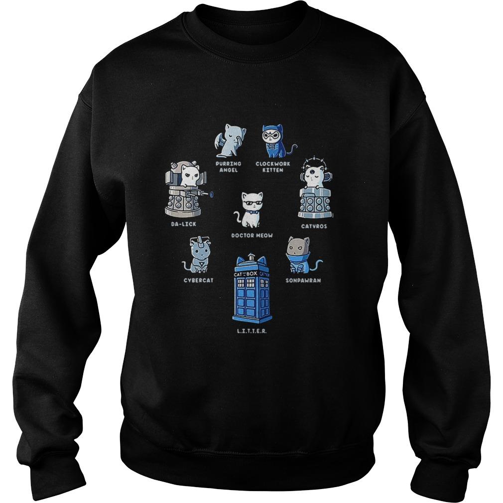 Tardis cats Doctor meow Doctor Who Sweatshirt