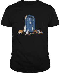 Tardis cats around police box Doctor Who  Unisex