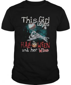 This girl loves Halloween and her wine  Unisex