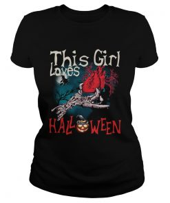 This girl loves Halloween heart  Classic Ladies
