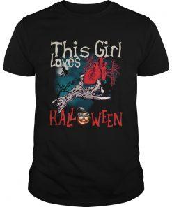 This girl loves Halloween heart  Unisex