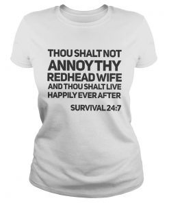 Thou shalt not annoy thy redhead wife and thou shalt live happily ever after  Classic Ladies