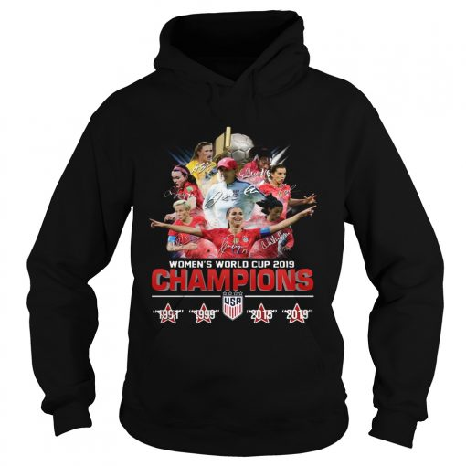 USA Womens world cup 2019 Champions 4 times  Hoodie