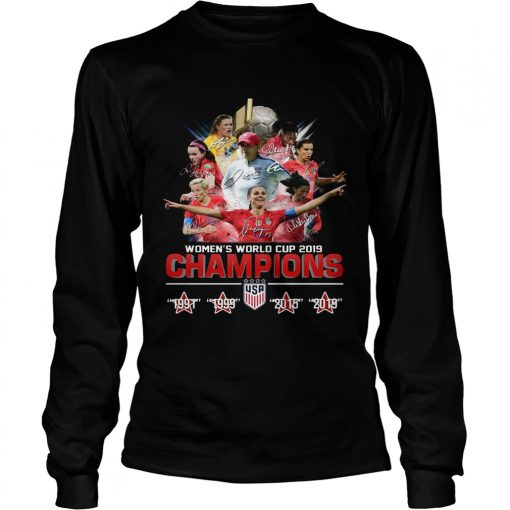 USA Womens world cup 2019 Champions 4 times  LongSleeve