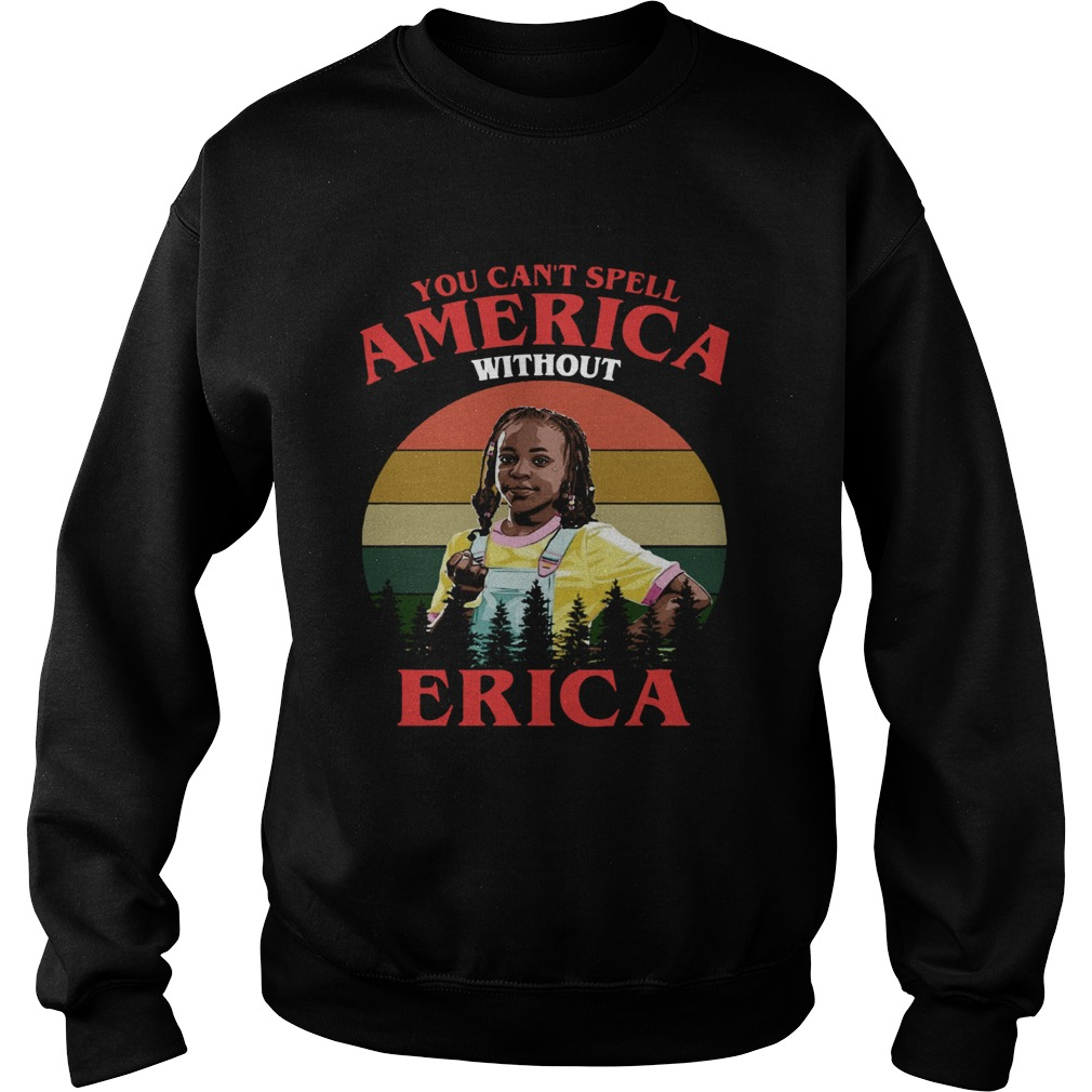 You cant spell America without Erica retro Sweatshirt