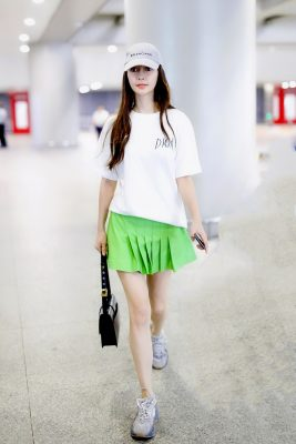 Angelababy Masters Airport Style in (What Else?) Dior