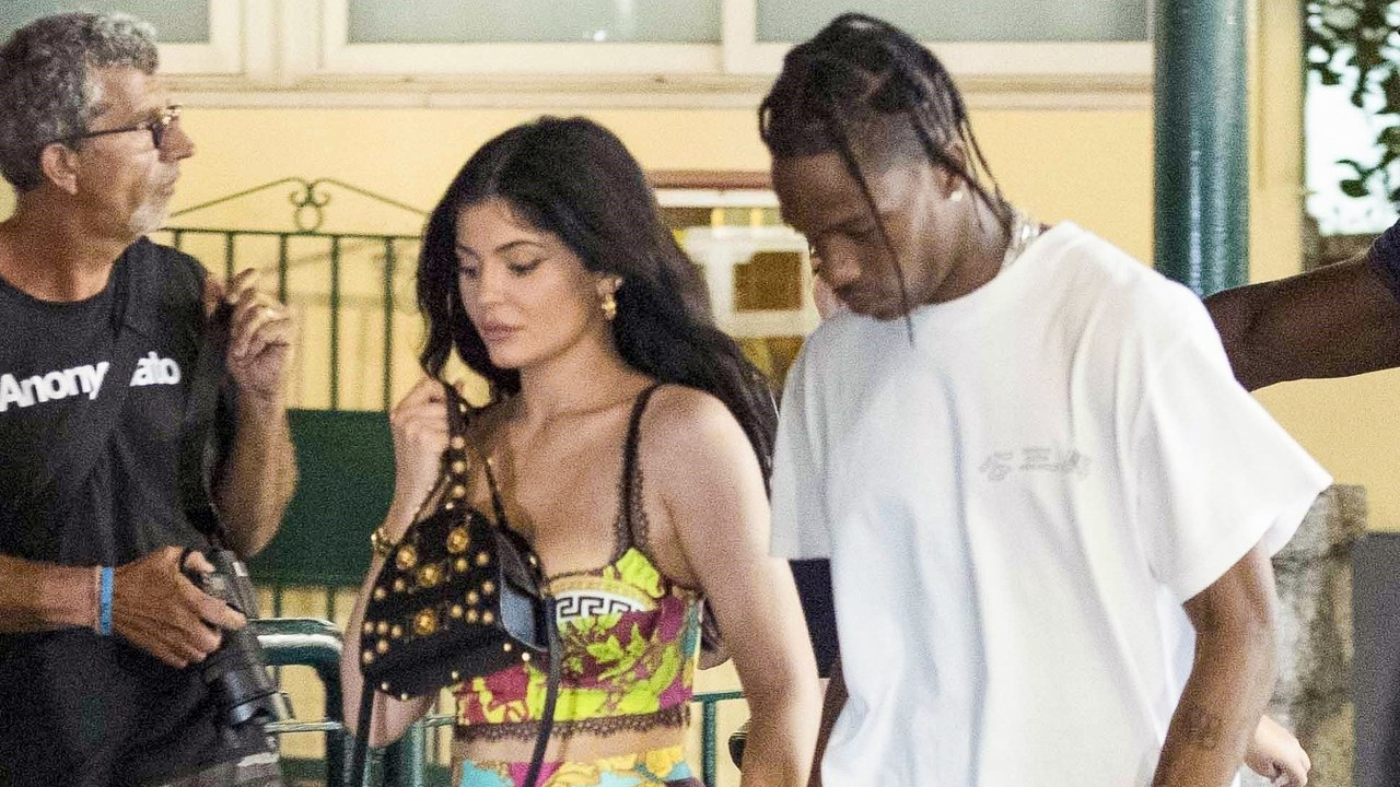 Kylie Jenner and Travis Scott Take Their Couples Style to Capri