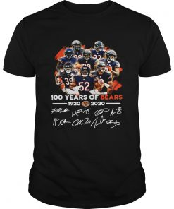 100 years of Chicago Bears 1920 2020 signature  Unisex