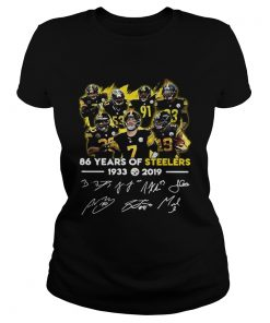 156629154286 Years of Steelers 1933-2019 signatures  Classic Ladies