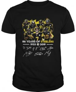 156629154286 Years of Steelers 1933-2019 signatures  Unisex