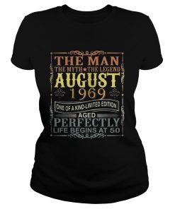 1969 Man Myth Legend August 50th Bday Gifts 50 yrs old TShirt Classic Ladies