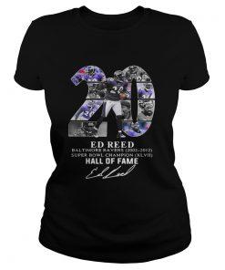 20 Ed Reed Baltimore Ravens 20022012 super Bowl Champion hall of fame  Classic Ladies