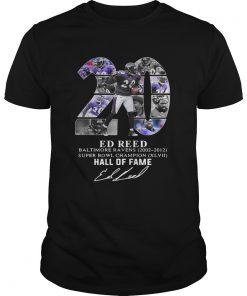 20 Ed Reed Baltimore Ravens 20022012 super Bowl Champion hall of fame  Unisex