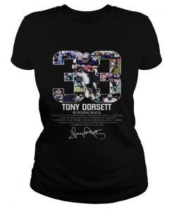 33 Tony Dorsett Dallas Cowboys Running back  Classic Ladies