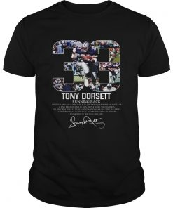 33 Tony Dorsett Dallas Cowboys Running back  Unisex