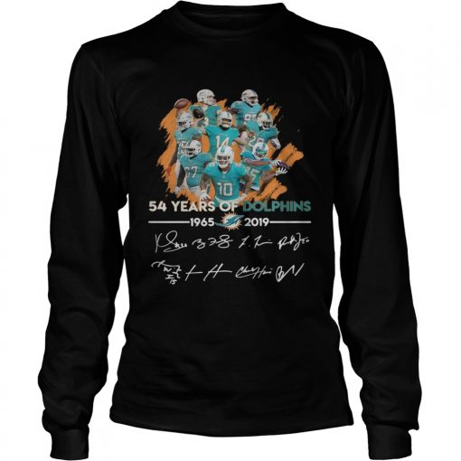 54 years of Dolphins 19652019 signature  LongSleeve