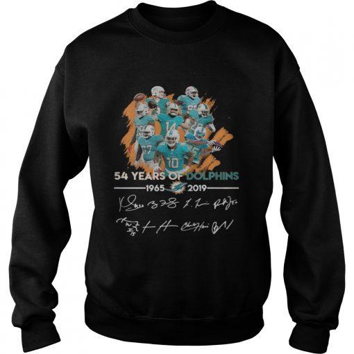 54 years of Dolphins 19652019 signature  Sweatshirt