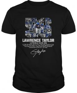 56 Lawrence Taylor Linebacker 56 10 time Pro Bowl selection signature  Unisex