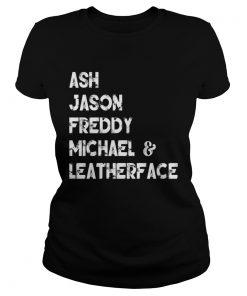 80s Horror Legends Ash Jason Freddy Michael Leatherface T Classic Ladies