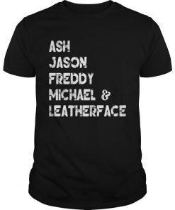 80s Horror Legends Ash Jason Freddy Michael Leatherface T Unisex