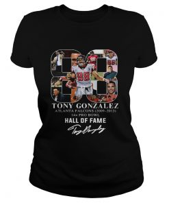88 Tony Gonzalez Atlanta Falcons Hall Of Fame  Classic Ladies
