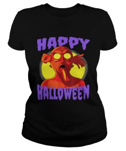 Awesome Happy Halloween Zombie Monster  Classic Ladies