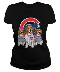 Beagle dog Chicago Cubs  Classic Ladies