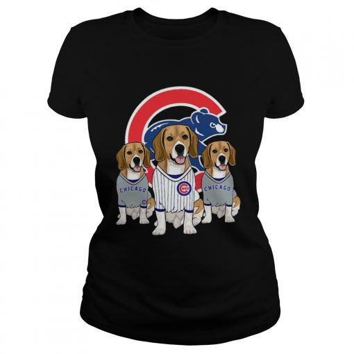 Beagle dog Chicago Cubs  Classic Ladies