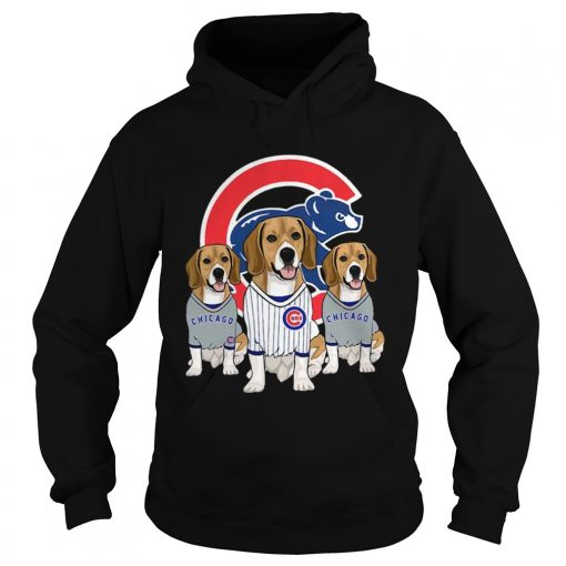 Beagle dog Chicago Cubs  Hoodie