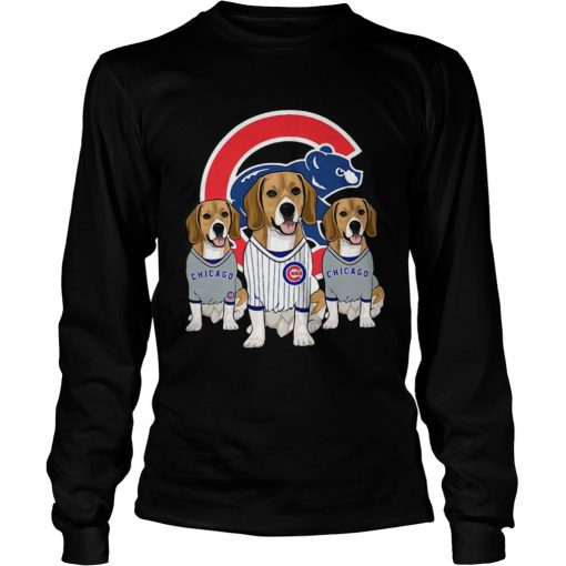 Beagle dog Chicago Cubs  LongSleeve