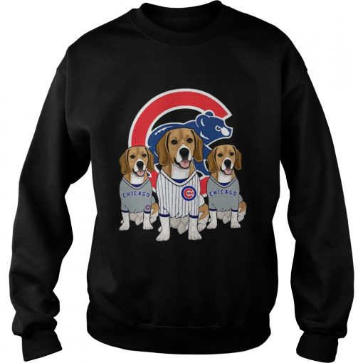 Beagle dog Chicago Cubs  Sweatshirt