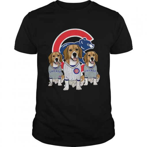 Beagle dog Chicago Cubs  Unisex