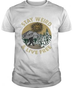 Bigfoot stay weird and live free retro  Unisex