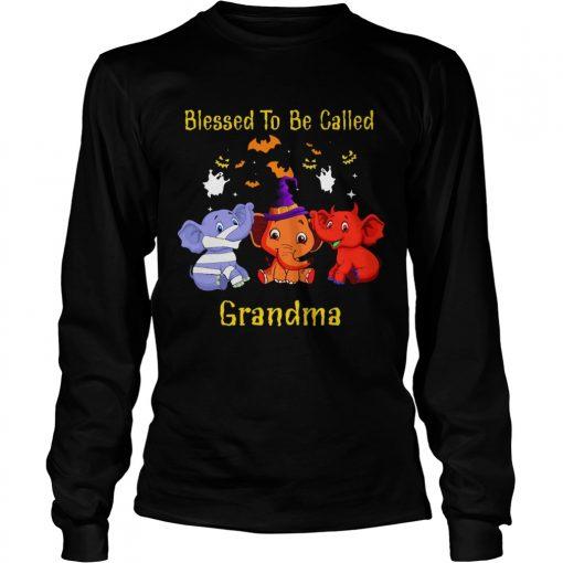 Blessed To Be Called Grandma Elephant TShirt LongSleeve